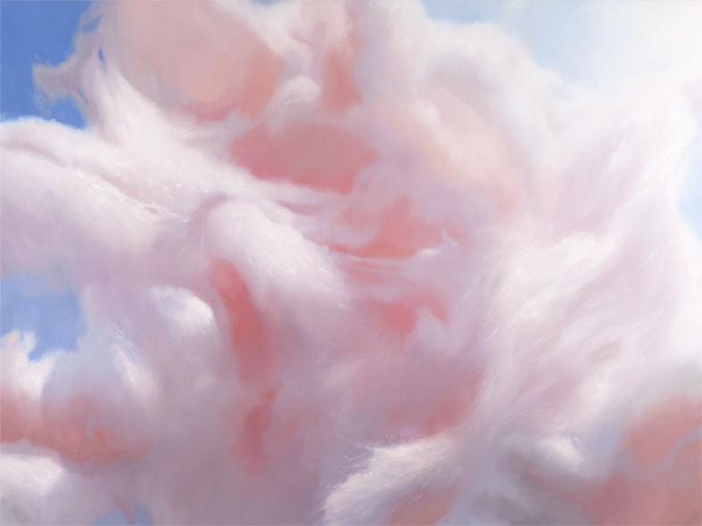 Will Cotton, Candy Cloud, 2012, oil on linen, 72 x 96 inches